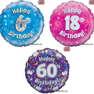 Aged birthday foils