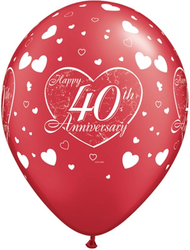 happy 40th anniversary hearts party store 4 u